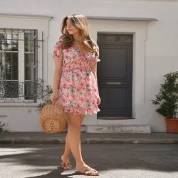 𝓜𝓲𝓷𝓲 𝓻𝓸𝓫𝓮 𝓯𝓵𝓮𝓾𝓻𝓲𝓮 🌷🌷🌷29€  Disponible en ligne et en magasin  #flowerpower #flowerdress #shoppingtime